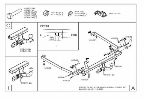 C031A для Citroen C8 2002-2010-1