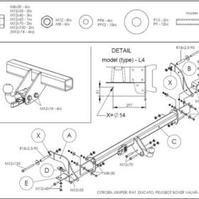 C045A для Citroen Jumper шасси 2006-1