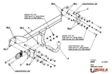 B.A08 для BMW 5-Series E60_E61 шар-автомат