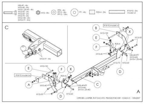 C042A для Citroen Jumper 2006-1