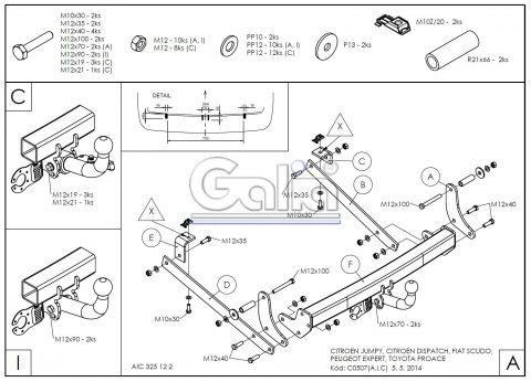 C050A для Citroen Jumpy 2006-1