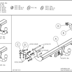 M122C для Citroen C4 Aircross 2012-1