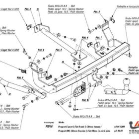 P.016 для Citroen Jumpy I 1994-2006-1