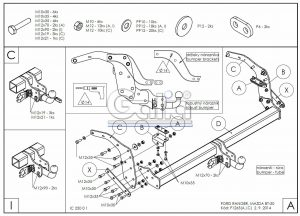 F126C для Ford Ranger шар-автомат 2012-1