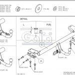 Фаркоп H083C для Hyundai ix35 2010-2015, Kia Sportage 2010-2015, шар C, Galia-11