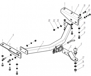Схема фаркопа RA858