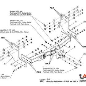 M.021 для Mercedes Sprinter без ступе