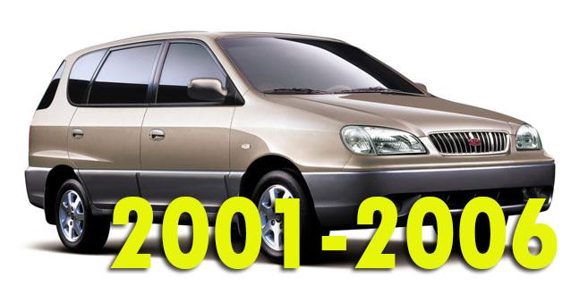 Защита картера двигателя для Kia Carens 2001-2006